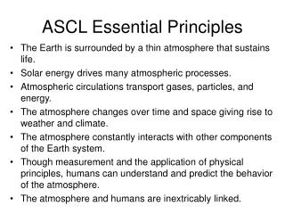 ASCL Essential Principles