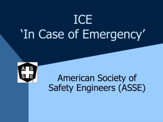 ICE  'In Case of Emergency'