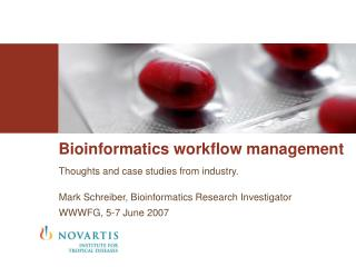 Bioinformatics workflow management
