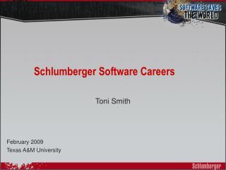 Schlumberger Software Careers