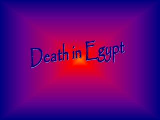 Death in Egypt