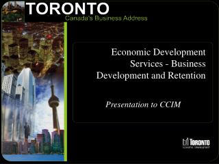 Economic Development Services - Business Development and Retention