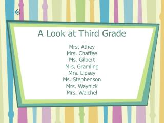 A Look at Third Grade