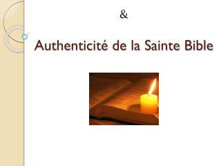 Authenticité de la Sainte Bible