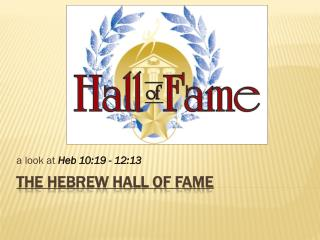 The Hebrew Hall of Fame
