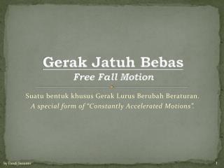 Gerak Jatuh Bebas Free Fall Motion