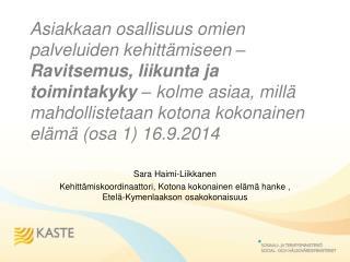 Sara Haimi-Liikkanen