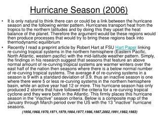 Hurricane Season (2006)