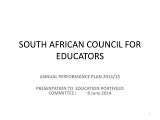 SOUTH AFRICAN COUNCIL FOR EDUCATORS
