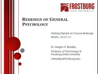 Redesign of General Psychology