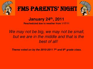 FMS PARENTS' NIGHT