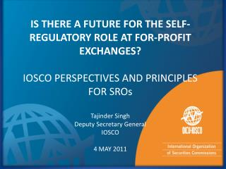 IS THERE A FUTURE FOR THE SELF- REGULATORY ROLE AT FOR-PROFIT EXCHANGES?
