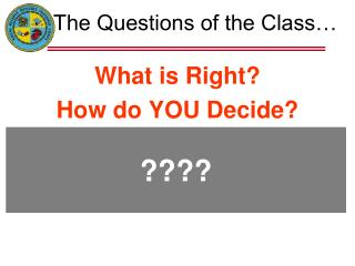 The Questions of the Class…
