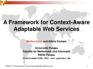 A Framework for Context-Aware Adaptable Web Services