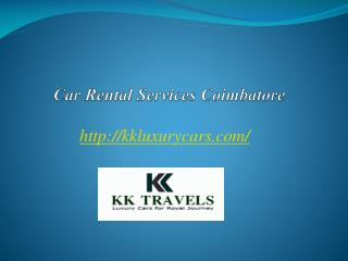 Car Rental Services Coimbatore