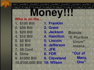 Money!!!