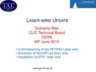 Laser-wire Update