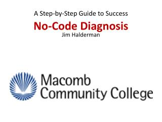 No-Code Diagnosis