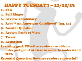 HAPPY TUESDAY!! – 11/12/13