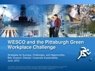 WESCO and the Pittsburgh Green Workplace Challenge
