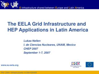 The EELA Grid Infrastructure and HEP Applications in Latin America