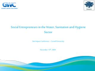 Social Entrepreneurs in the Water, Sanitation and Hygiene Sector