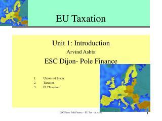 EU Taxation