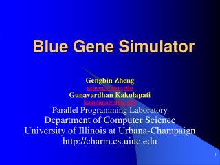 Blue Gene Simulator