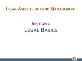 Section 1 Legal Basics