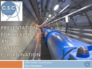 Presentation for health and safety coordination