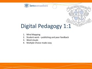 Digital Pedagogy 1:1
