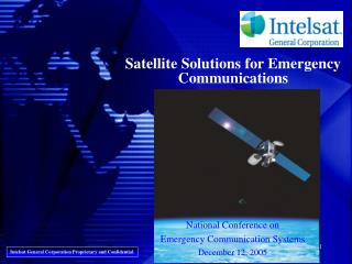 Satellite Solutions for Emergency Communications