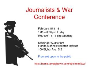 Journalists & War Conference