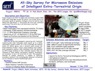 All-Sky Survey for Microwave Emissions of Intelligent Extra-Terrestrial Origin