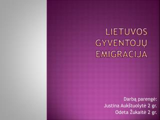 Lietuvos gyventojų emigracija