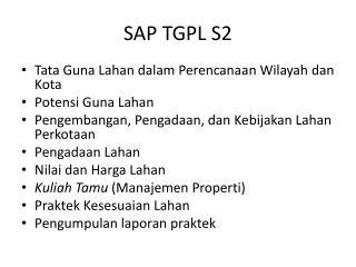 SAP TGPL S2