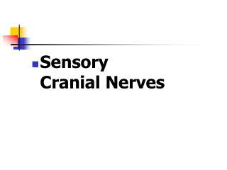 Sensory  Cranial Nerves