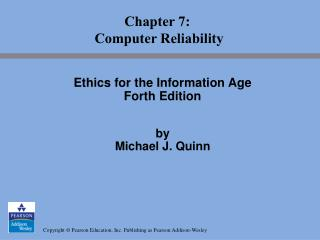 Chapter 7:  Computer Reliability