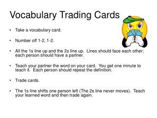Vocabulary Trading Cards