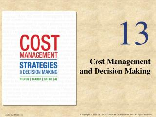 Cost Management and Decision Making