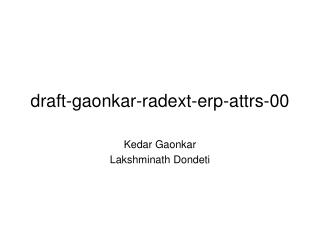 draft-gaonkar-radext-erp-attrs-00