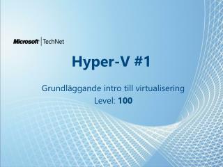 Hyper-V #1