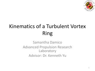 Kinematics of a Turbulent Vortex Ring