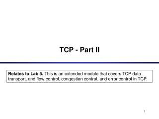 TCP - Part II