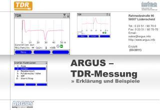 ARGUS –  TDR-Messung