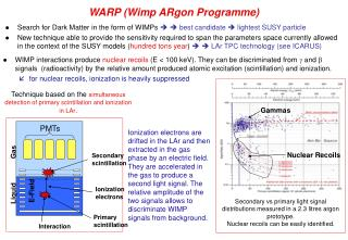 WARP (Wimp ARgon Programme)
