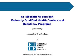 Collaborations between  Federally Qualified Health Centers and  Residency Programs