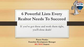 Powerful Lists Every Realtor Needs to Succeed