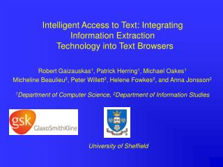 Intelligent Access to Text: Integrating Information Extraction   Technology into Text Browsers