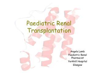 Paediatric Renal Transplantation